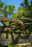 水门嵌齿轮轮子  免版税库存照片