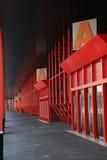 门廊红色 库存图片