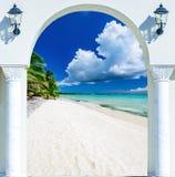 门开放棕榈滩加勒比海多米尼加共和国 免版税库存图片