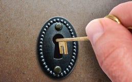 门开锁 库存图片
