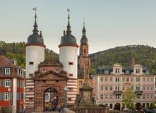 门户到海得尔堡里德国老镇  免版税库存照片
