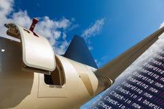 门户开放主义在喷气机 免版税库存照片