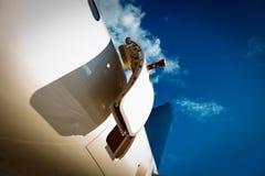 门户开放主义在喷气机 库存图片