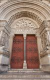 门户(1190)圣徒Trophime大教堂在阿尔勒,法国 库存照片