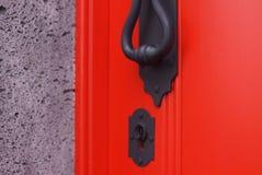 门把手匙孔 库存图片