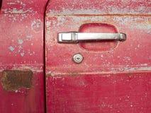 门把手老汽车 库存图片