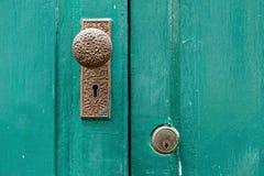 门把手,古色古香的门把手 库存照片