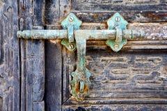 门抽象西班牙关闭了兰萨罗特岛 免版税图库摄影