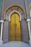 门摩洛哥人宫殿 免版税库存照片