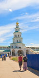 门教会 2007第23个耶路撒冷6月修道院新的俄国 Istra 假定大教堂dmitrov克里姆林宫莫斯科明信片区域俄国冬天 免版税库存照片