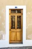 门有历史木 库存照片