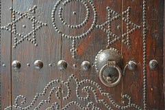 门有历史的金属 库存照片