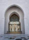 门清真寺回教族长zayed 免版税库存图片