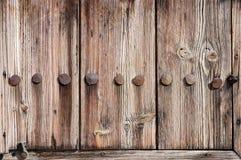 门片段被风化的木 免版税库存图片