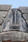 门狮子mycenae 库存照片