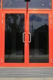 门玻璃。 图库摄影
