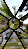门玻璃窗格 免版税库存照片