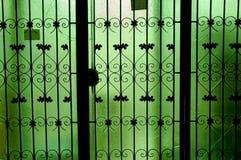 门玻璃绿色 库存照片