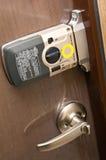 门电子锁定 图库摄影