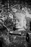 门监护人, Angkor,柬埔寨题头  库存图片