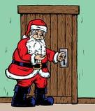 门空缺数目圣诞老人 库存照片