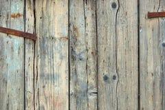 门被风化的木 免版税库存照片