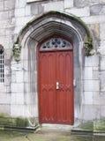 门装饰物 贝得福得城堡关闭都伯林genelogical办公室耸立 免版税图库摄影