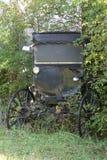 门诺派中的严紧派的儿童车 免版税库存图片