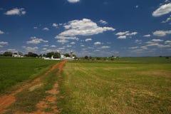 门诺派中的严紧派的农场 免版税库存图片