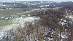 门诺派中的严紧派的农田鸟瞰图在宾夕法尼亚 股票录像