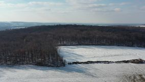 门诺派中的严紧派的农田鸟瞰图在宾夕法尼亚 股票视频