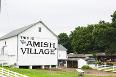 门诺派中的严紧派的村庄大厦 免版税图库摄影