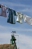 门诺派中的严紧派的洗衣店在兰卡斯特, PA 库存照片