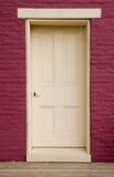 门道入口白色 免版税库存照片