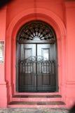 门道入口红色 库存图片