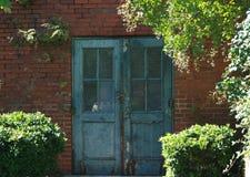 门道入口绿叶 库存图片
