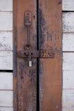 门锁了与钥匙 免版税图库摄影