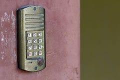 门锁和打开门的存取控制盘区 安全syst 免版税库存照片