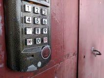 门锁和打开门的存取控制盘区 安全syst 库存图片