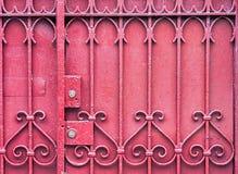 门锁定红色 免版税库存照片