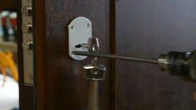 门锁的设施 股票视频