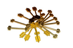从门锁的钥匙 免版税库存图片