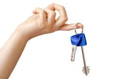 从门锁的钥匙 免版税库存照片
