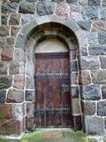 门锁着老木 库存照片