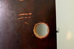 门闩孔  库存照片