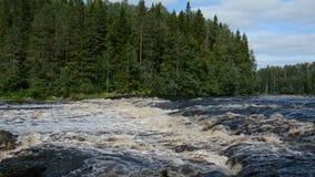门限Kenyajkoski Shuya河,卡累利阿,俄罗斯 影视素材