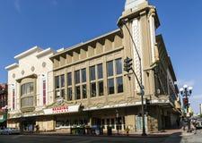门面历史的戏院Gaslamp 15 免版税图库摄影