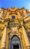 门面圣玛丽亚马达莱纳半岛教会罗马意大利外 库存照片
