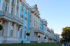 门面特写镜头 凯瑟琳宫殿彼得斯堡俄国selo st tsarskoe 普希金市 免版税库存图片