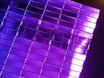 门面紫色发光 库存照片